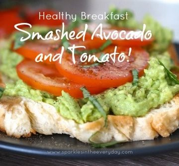 Smashed Avocado and Tomato - Healthy Breakfast