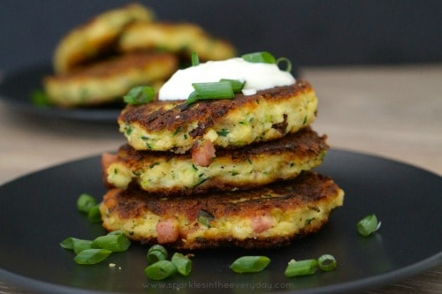 Tasty Halloumi, Zucchini and Bacon Fritters recipe