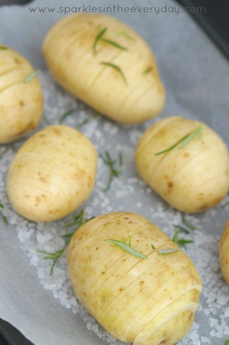 The tips to preparing Crispy Hasselback Potatoes with Caramelised Onion Recipe