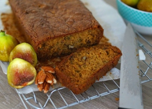 The best way to use up ripe figs - Fresh Fig and Pecan Loaf!