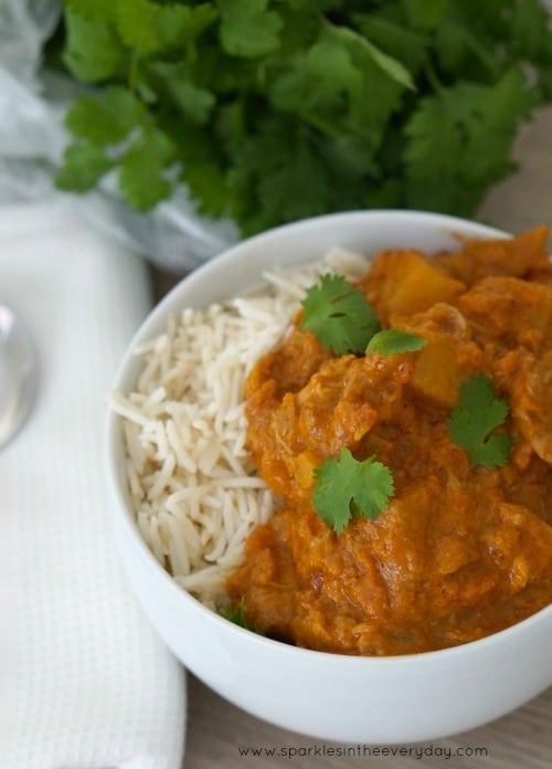 Easy Chicken Tikka Masala in the Slow Cooker! (GF)