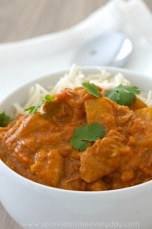 Slow cooker Chicken Tikka Masala recipe! (GF)