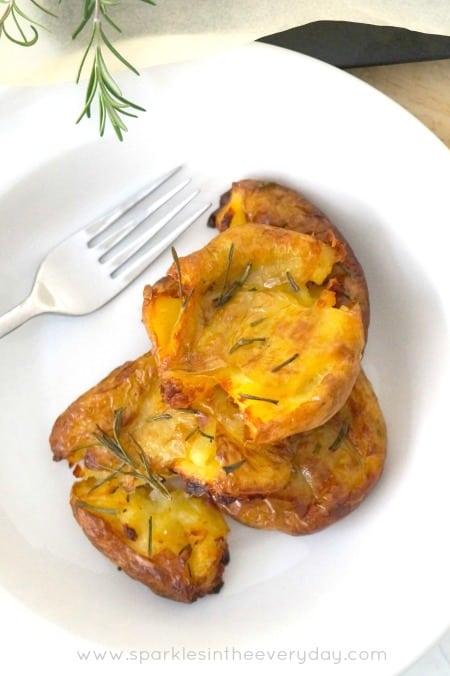 Crispy Smashed Potatoes the easy way! (GF)