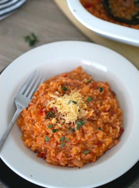 Easy Oven Baked Bacon and Tomato Risotto (GF)
