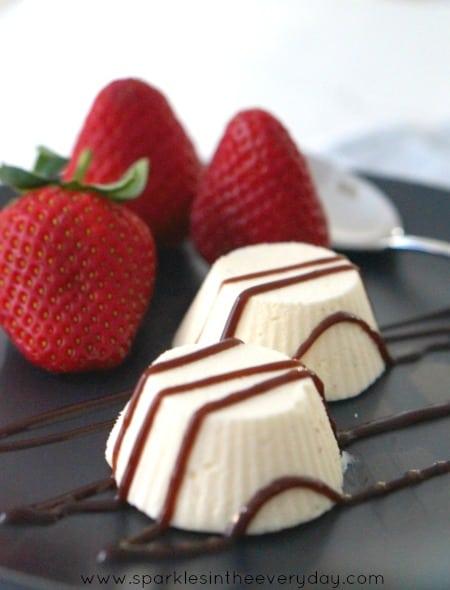 Easy decadent dessert made with easy no churn vanilla bean ice-cream! (GF)
