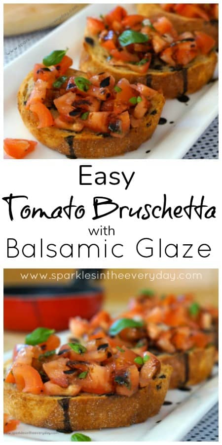 How to make Easy Tomato Bruschetta with Balsamic Glaze!!