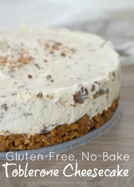 Gluten-Free, No-Bake Toblerone Cheesecake