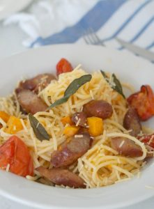 Sausage, Sage and Pumpkin Pasta recipe (gluten Free option too) - Sparkles In The Everyday!