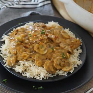 Vegetarian, Gluten-Free Mushroom Stroganoff!