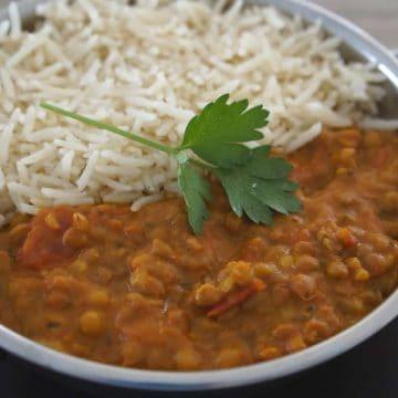 Tomato and Lentil Curry Recipe - Gluten-Free, Vegan